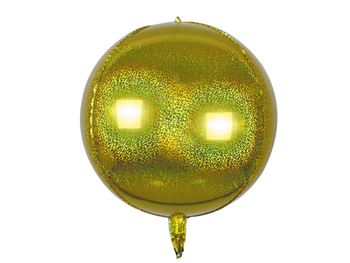 """22"""" Sphere Holographic Gold (5 count)"""