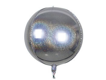 """22"""" Sphere Holographic Silver (5 count)"""