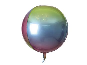 """22"""" Sphere Rainbow Ombre (5 count)"""