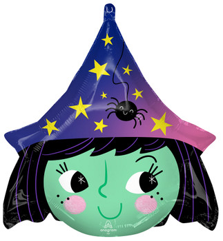 "19""A Halloween Rainbow Witch Head Pkg (5 count)"