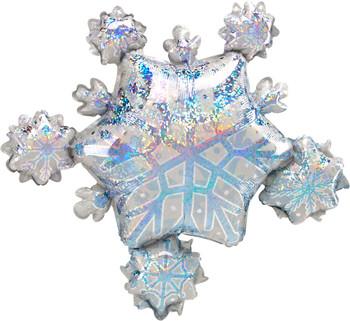 "32""A Snowflake Cluster Hologram Pkg (5 count)"