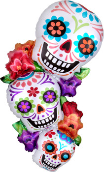 "38""A Halloween Stacking Sugar Skull Pkg (5 count)"