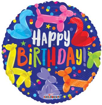 "18""K Happy Birthday Balloon Animals (10 count)"