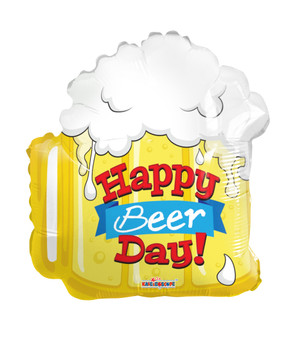 """18""""K Happy Birthday Beer Day (10 count)"""