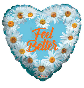 """18""""K Feel Better Clear Daisies (10 count)"""