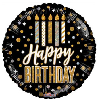 """9""""K Happy Birthday Candles and Dots (10 count)"""