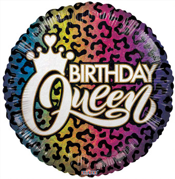 """18""""K Birthday Queen Holographic Ombre (10 count)"""