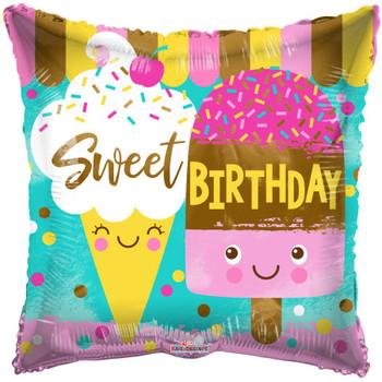 """18""""K Sweet Birthday Ice Cream (10 count)"""