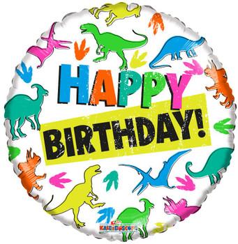 "18""K Happy Birthday Dinosaurs (10 count)"