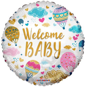 """18""""K Welcome Baby Hot Air Balloons (10 count)"""