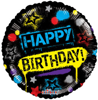 "18""K Happy Birthday Graffiti (10 count)"
