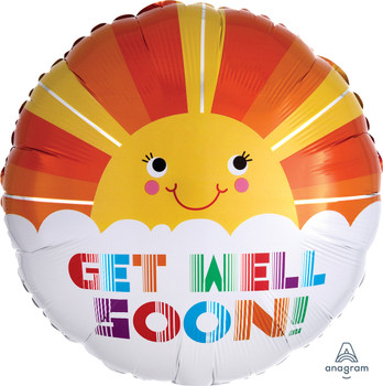 """18""""A Get Well Smiley Sunshine (10 count)"""