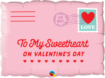 """30""""Q Addressed To My Sweetheart On Valentine Pkg (1 count)"""