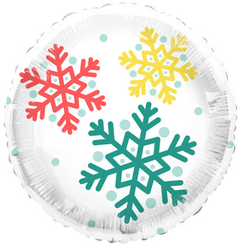 "18""T Christmas Feelin' Festive SnowFlake Pkg (5 count)"