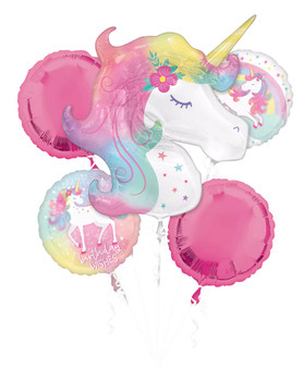 Bouquet Happy Birthday Enchanted Unicorn Pkg (1 count)