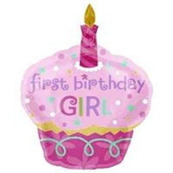"""36""""A 1st Birthday Girl, Cup Cake (5 count)"""