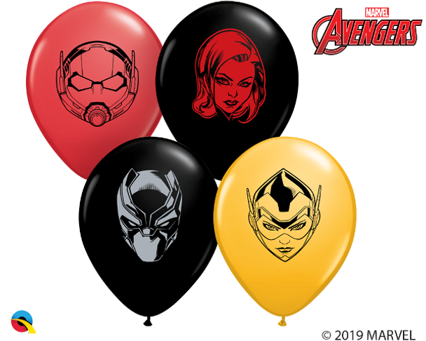 """5""""Q Assorted, Marvel Faces Print (100 count)"""