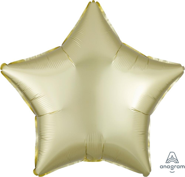 """19""""A Star, Satin Luxe Pastel Yellow(10 count)"""