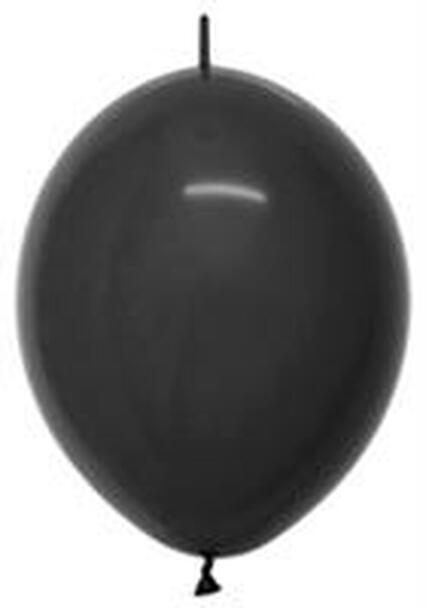 "6""B Linko loon Black solid latex(50 count)"