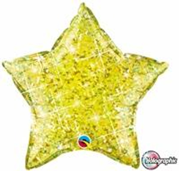 """20""""Q Star, Holographic Yellow(10 count)"""
