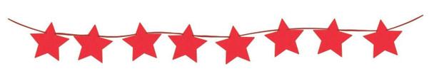 6' Mini Banner, Diamond Star Hot Pink(1 count)