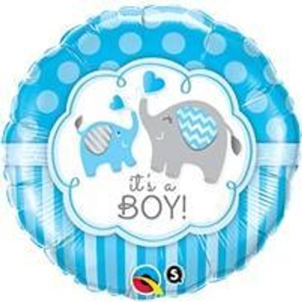 "18""Q It's A Boy, Elephants(5 count)"