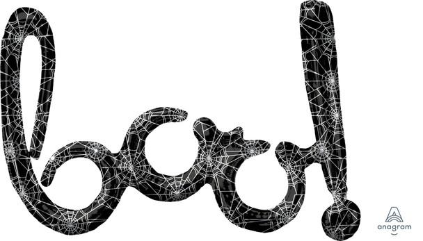 """30""""A Script BOO Black Webs(1 count)"""