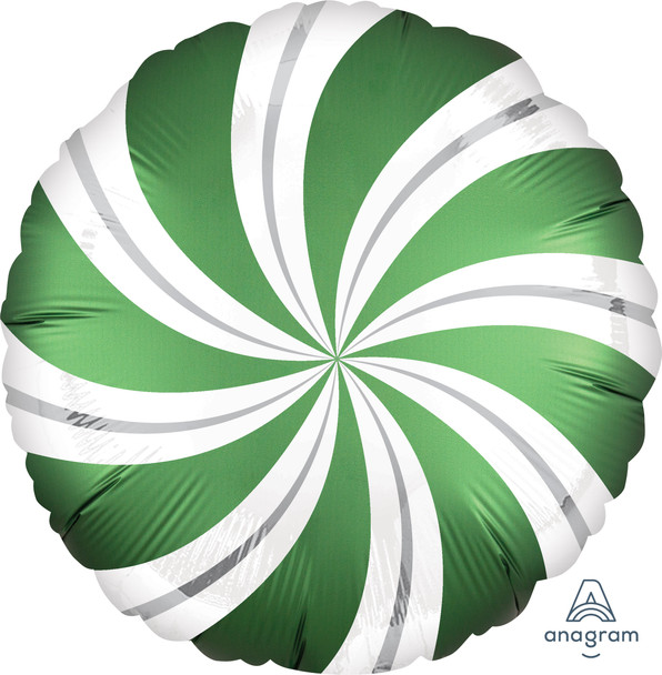 "18""A Candy Swirl,  Satin Emerald Green(5 count)"