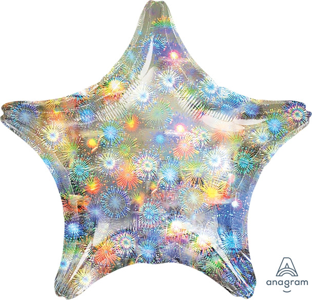 """19""""A Star, Holographic Firework (10 count)"""