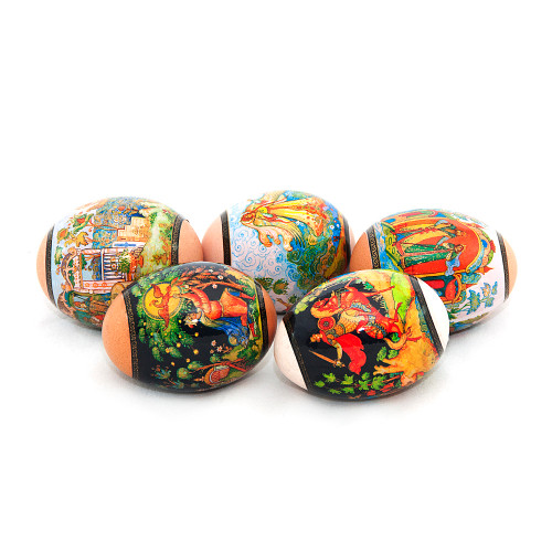 Palekh Tales, set of 5 Easter Egg Shrinking Wraps
