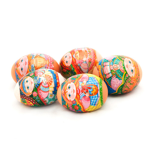 Russian Matryoshka, set of 5 Easter Egg Shrinking Wraps