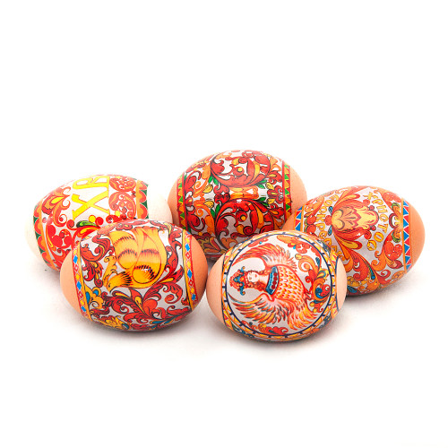 """Severodvinskaya"" Painting, set of 5 Easter Egg Shrinking Wraps"
