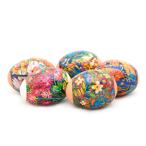 Flower Pictures, set of 5 Easter Egg Shrinking Wraps