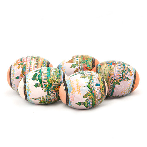 """Russian Cities of """"Golden Ring"""", set of 5 Easter Egg Shrinking Wraps"""