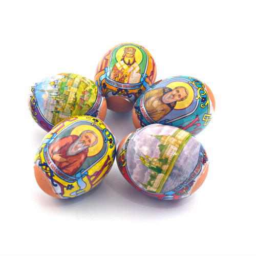 Russian Monasteries, set of 5 Easter Egg Shrinking Wraps