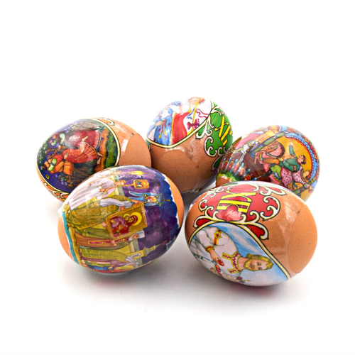 Folk Traditions, set of 5 Easter Egg Shrinking Wraps