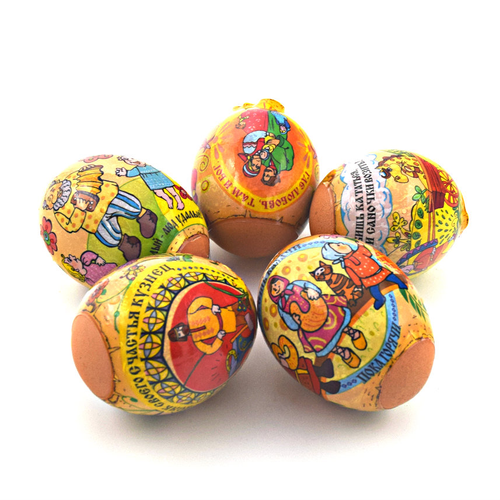 Russian Proverbs, set of 5 Easter Egg Shrinking Wraps