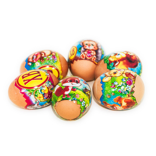 Little Animals, set of 6 Easter Egg Shrinking Wraps