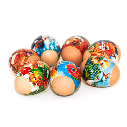 Babies, set of 7 Easter Egg Shrinking Wraps