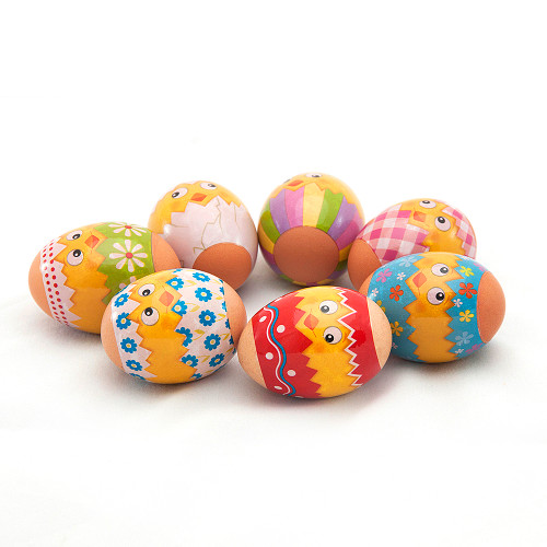 Funny Easter Chickens, set of 7 Easter Egg Shrinking Wraps