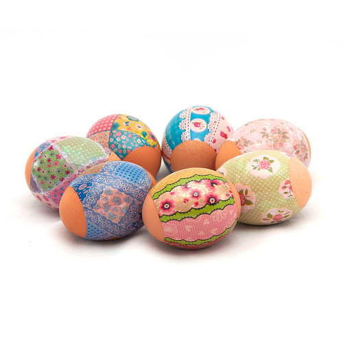 Spring Patterns, set of 7 Easter Egg Shrinking Wraps