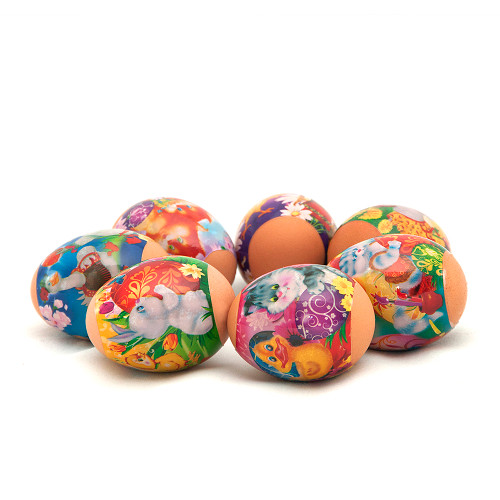 Baby Animals, set of 7 Easter Egg Shrinking Wraps