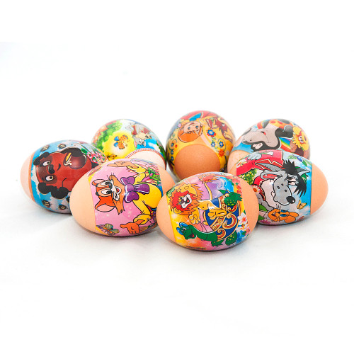 Russian Favourite Cartoons, set of 7 Easter Egg Shrinking Wraps