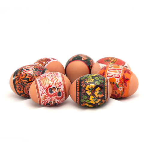 Sunny Khokhloma, set of 7 Easter Egg Shrinking Wraps