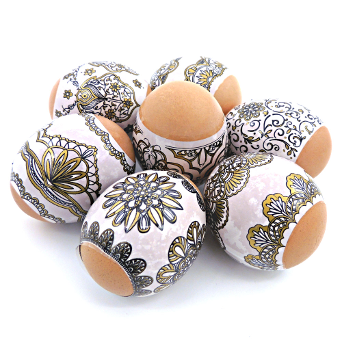 Golden Ornaments , set of 7 Easter Egg Shrink Wraps