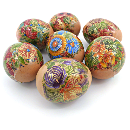 Bright Garden, set of 7 Easter Egg Shrink Wraps