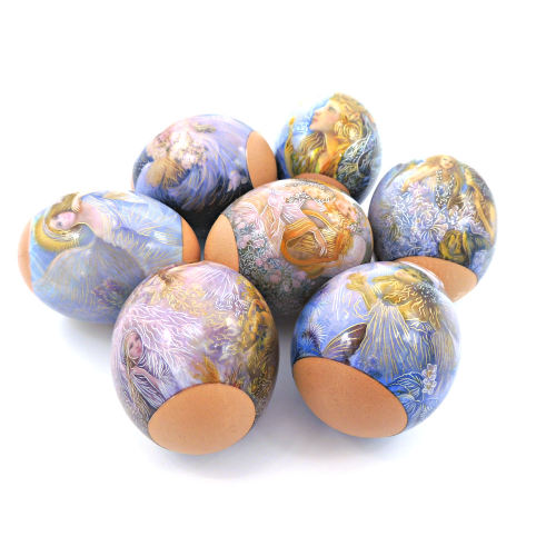 Nimphs, set of 7 Easter Egg Shrinking Wraps
