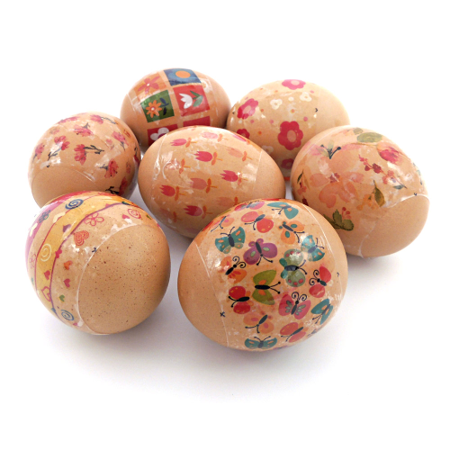 Little Flowers, set of 7 Easter Egg Shrinking Wraps