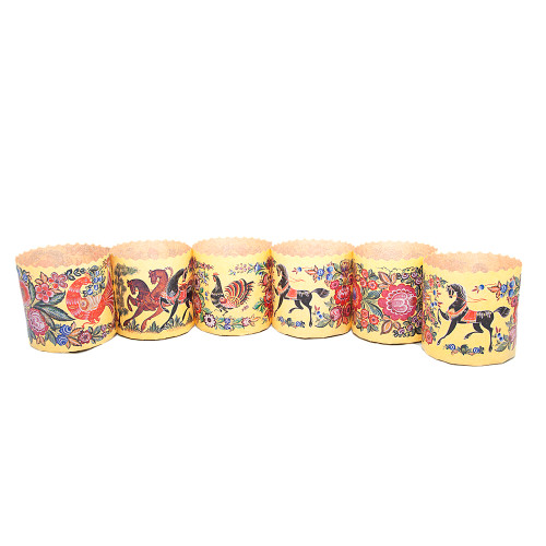 Gorodets Russian Painting, Baking Paper Pans