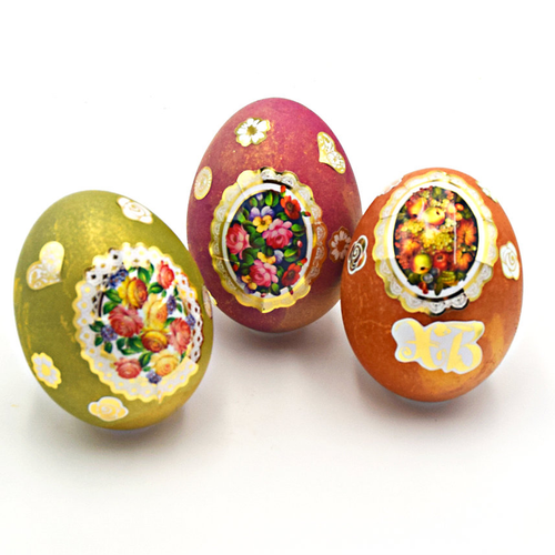 Zhostovo Egg Stickers (Art-stk3)